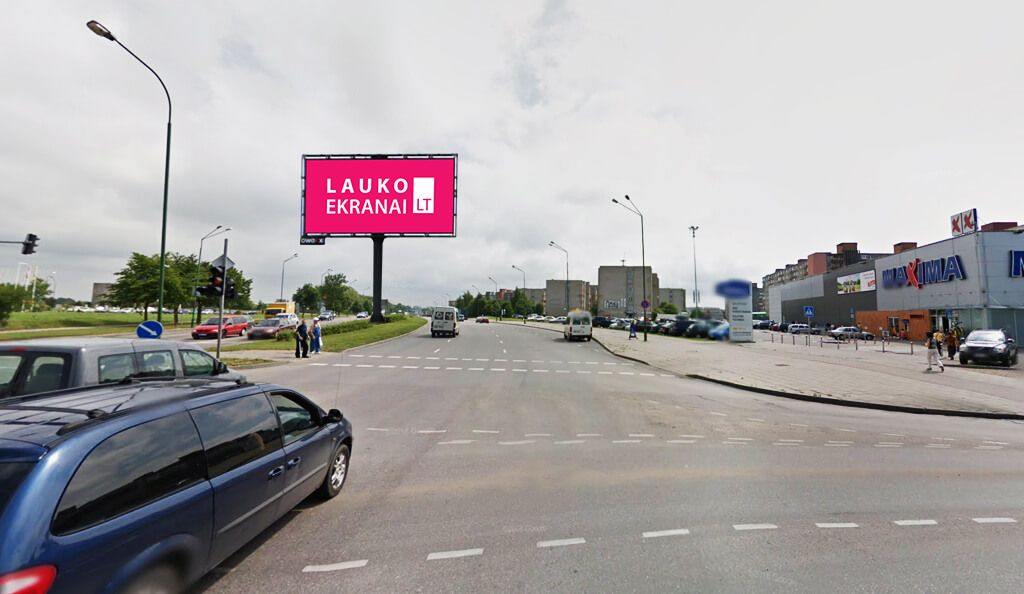 "Outdoor LED screen ""ŠILUTĖ STR. ROAD"" in Klaipeda"