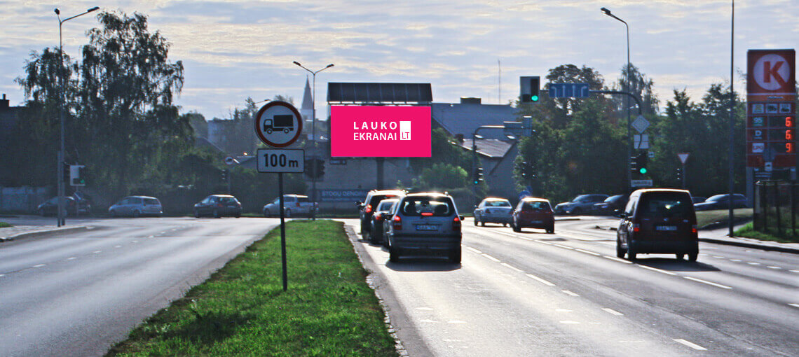 "Outdoor LED advertising screen - ""The biggest intersection"", Siauliai, Lithuania"